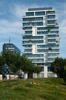 Berlin, Germany, Luxury residential block 'Living Levels' in Friedrichshain