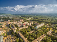 Downtown Nevinnomyssk. Russia, the Stavropol region. View from the height.