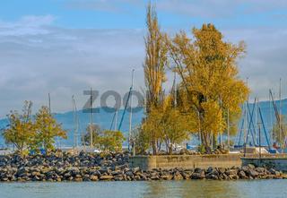Bodenseehafen Romanshorn, Kanton Thurgau, Schweiz