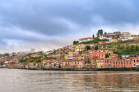 Porto Portugal city skyline at Douro River