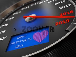 Speedometer Happy Valentine's Day