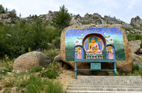 Honoring Buddha en route to the Buddhist monastery Aryapala Initiation and Meditation Center