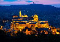 Illuminated Budavari Palace