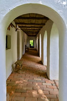 passageway of an old farm house
