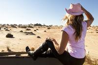 Woman in the Australian Desert