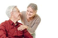 Glückliches Paar Senioren in Partnerschaft