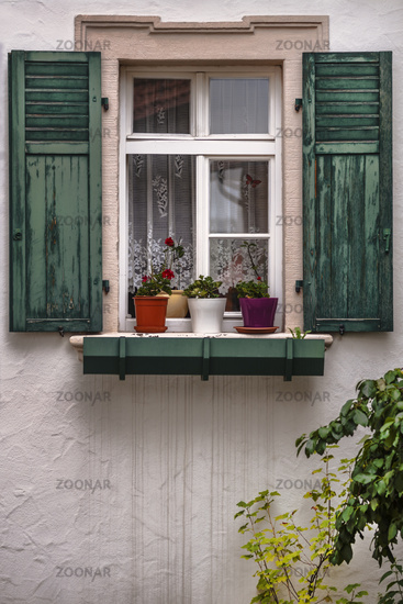 Window detail of an old house