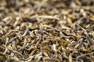 texture of Chinese oolong black tea