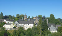 Village of Friedewald in Westerwald,Rhineland Palatinate,Germany