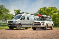 Toyota 4 Runner SUV and Winnebago Revel camper