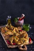 Chicken tabaka background