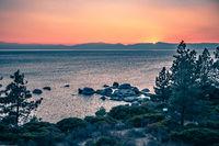 beautiful lake tahoe sunset