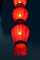 Illuminated red chinese lanterns in Xi'an