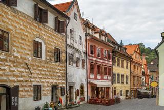 Street in Cesky Krumlov, Czech republic