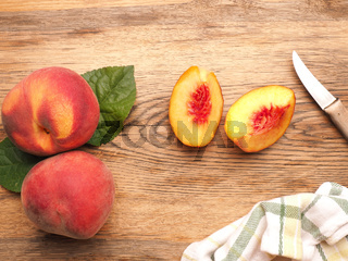 Tasty organic peaches