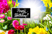 Sunny Spring Flower, Calligraphy Muttertag Means Happy Mothers Day