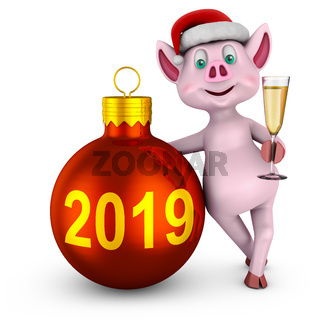 Piglet with  ball 2019
