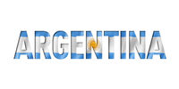 argentinian flag text font