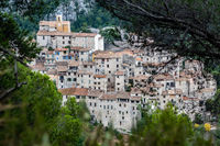 medieval peillon village in the provence region of Nice