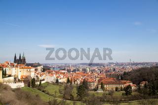 Panoramic View over Prague, Czech Republic