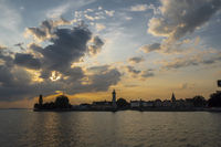 evening at Lake Constance with Lindau, Germany