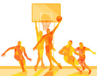 Basketball player on the field illustration