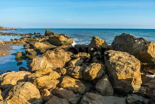 Big stones on the edge of the Black Sea