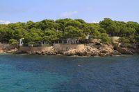 beautiful beach with turquoise sea water, Cala Gat, Majorca, Spain