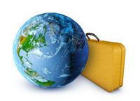 Globe and  suitcase