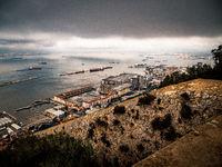 Gibraltar aerial view city
