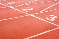 1 2 3 Orange athletic tracks