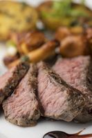 Steakscheiben mit Pfifferlingen