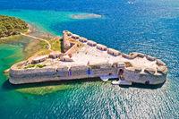 Saint Nikola fortress overlooking Sibenik bay entrance