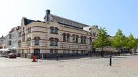 market hall with drugstore at Västervik