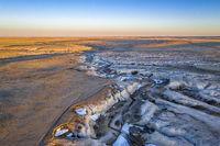 arroyo in northern Colorado prairie
