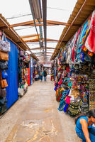 Bogota city covered market  with handicrafts
