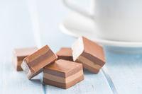 Sweet nougat pralines.