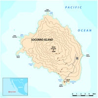 Map of the mexican pacific island Socorro