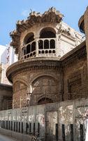 Ruined abandoned Sabil and Kuttab Ruqayya Dudu historic building, Darb Al Ahmar, Cairo, Egypt