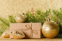 Christmas gift box and decor