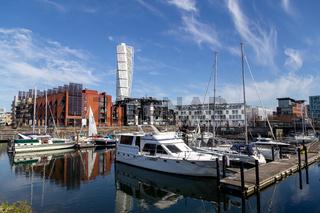 Small Sailboat Harbour in Malmo, Sweden