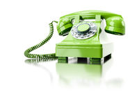 old green dial-up phone