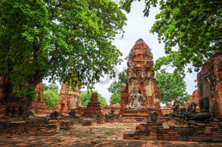 Buddha statue in Wat Mahathat, Ayutthaya, Thailand