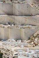 Marble blocks in mine