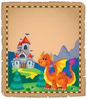 Dragon and castle theme parchment 5