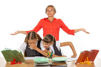 Teacher can't do anything with naughty kids in class