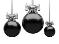3D Rendering Black Christmas Ball