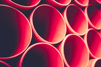 Abstract Background Of Red Pipes