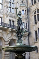 Hygieia Fountain, Neo-Renaissance town hall