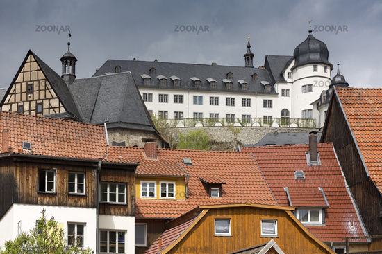 The small town of Stolberg with castle in the Harz Mountains, Germany